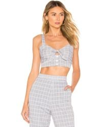 266fd32bcee Lyst - Obey The Debbie Floral Cutout Tube Top in Gray