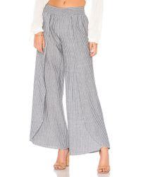 Bobi - Seaside Stripe Pant In Black - Lyst