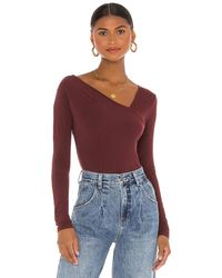Enza Costa - トップ In Burgundy. Size S, Xs. - Lyst