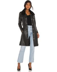 Urban Outfitters Thunderbird コート - ブラック