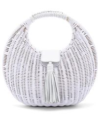 Cleobella Olivia Wicker Bag - Weiß
