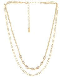 Natalie B. Jewelry Ожерелье Sutton В Цвете Золотой - Металлик