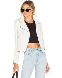 Lamarque Donna Leather Jacket - White