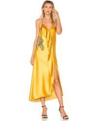 MESTIZA NEW YORK - Natalia Ruffle Midi Dress In Yellow - Lyst
