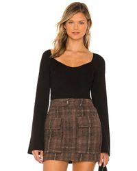 Line & Dot Melissa Sweater Long Sleeve - ブラック