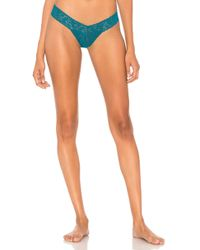 Hanky Panky - Low Rise Thong In Green. - Lyst