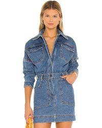 Shona Joy Emily Oversized Shirt - Blue