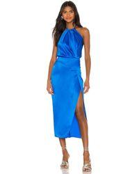 Michelle Mason Мини Платье В Цвете Небо - Синий