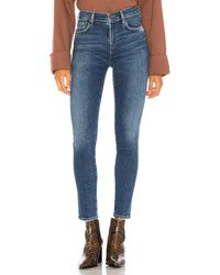 Agolde Sophie Mid Rise Ankle Skinny. Size 24. - Blau