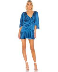 Free People Strike A Pose Mini Dress - Blau