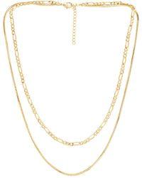 Luv Aj Cecilia Chain Necklace - Mettallic