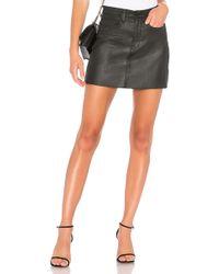 Blank NYC Frayed Edge Mini Skirt - Schwarz