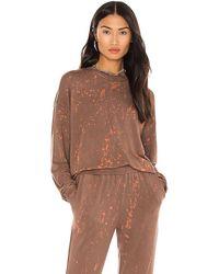 Kendall + Kylie Mineral Wash Sweatshirt - Brown