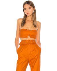Camila Coelho Josephina Crop Top - Orange