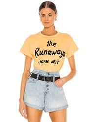 Daydreamer Joan Jett グラフィックtシャツ - イエロー