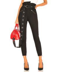 GRLFRND - Mia Paperbag Moto Pants - Lyst