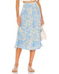 Faithfull The Brand Jocelyn Midi Skirt - Blue
