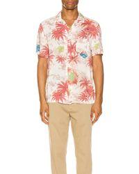 AllSaints Kanaloa Short Sleeve Shirt - Pink