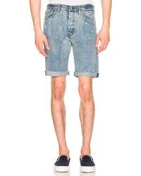 Levi's Premium 501 Cut Off Shorts - Azul