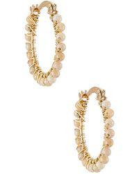 Mercedes Salazar Florecitas Hoop Earrings - Metallic