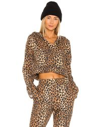 Lovers + Friends Leopard パーカー - ブラウン