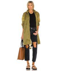 Rag & Bone Adison Nylon Raincoat Oversized Fit Jacket - Green