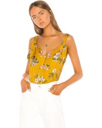 Rebecca Taylor Lita Floral Tank - Gelb