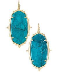 Kendra Scott Pendiente baroque ella - Azul