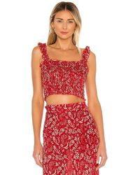 Cool Change Daria Meadow Top - Red