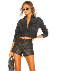 GRLFRND Укороченная Джинсовая Рубашка Christy В Цвете Moonlight Drive. Размер L (также В M). - Многоцветный