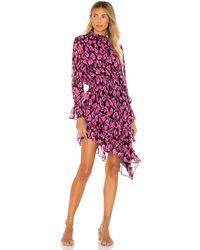 MISA Los Angles Платье Savanna В Цвете Isadora Leopard & Pink - Pink. Размер M (также В S,xs). - Розовый