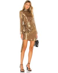 L'academie The Josette Mini Dress - Metallic