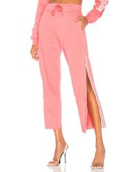 Les Girls, Les Boys - Loopback Popper Track Pant In Pink - Lyst