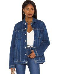 L'Agence Karina Oversized Jacket - Blau
