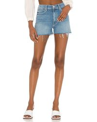 Mother The Dutchie Short Fray - Blue