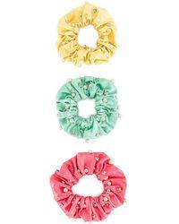 MaryJane Claverol Miami Scrunchie Set - Multicolor