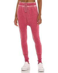Free People Cozy All Day Harem Pant - Red
