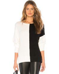 LNA - Daryl Sweater In Black & White - Lyst