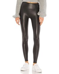 Spanx Petite Faux Leather Legging - Schwarz
