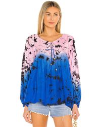 Karina Grimaldi Olga Tie Dye Top - Blue