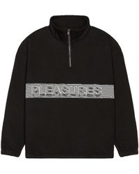 Pleasures Decline Quarter Zip - Schwarz
