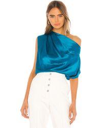 Michelle Mason Asymmetrical ブラウス - ブルー