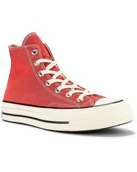 Converse Кроссовки Chuck 70 Seasonal Color Recycled Canvas В Цвете Terracotta Pink & Egret - Розовый