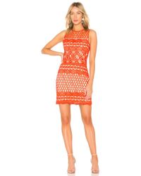 Endless Rose - Guipure Lace Dress In Red - Lyst