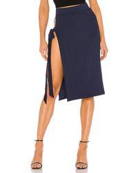 superdown Kai Slit Midi Skirt - Blue