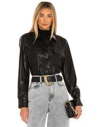 Amanda Uprichard X Revolve Fritzi Leather Top В Цвете Черный