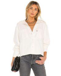 Levi's Zoey Pleat Utility Shirt - Weiß
