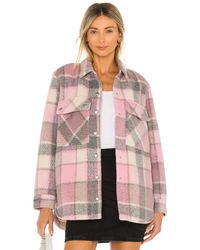 Blank NYC Flannel Shacket - Pink