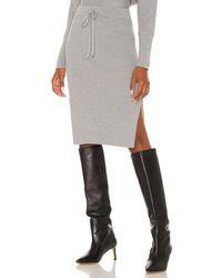 Bobi Black Midi Skirt - Grey