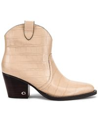 COACH Western Bootie - Natural